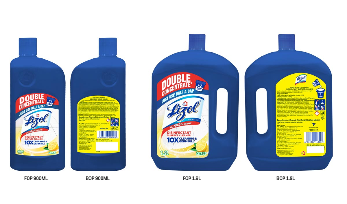 Lizol introduces its first disinfectant concentrate for Indian consumers