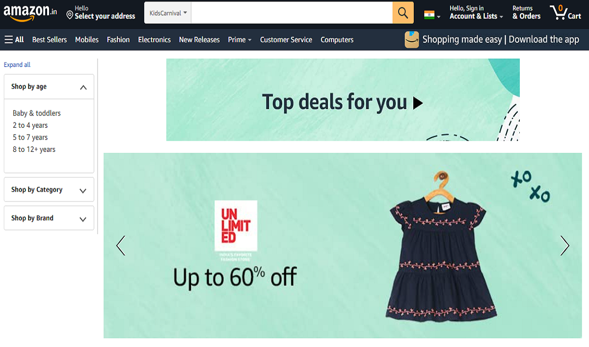 Amazon India Curates Special Store for Kids