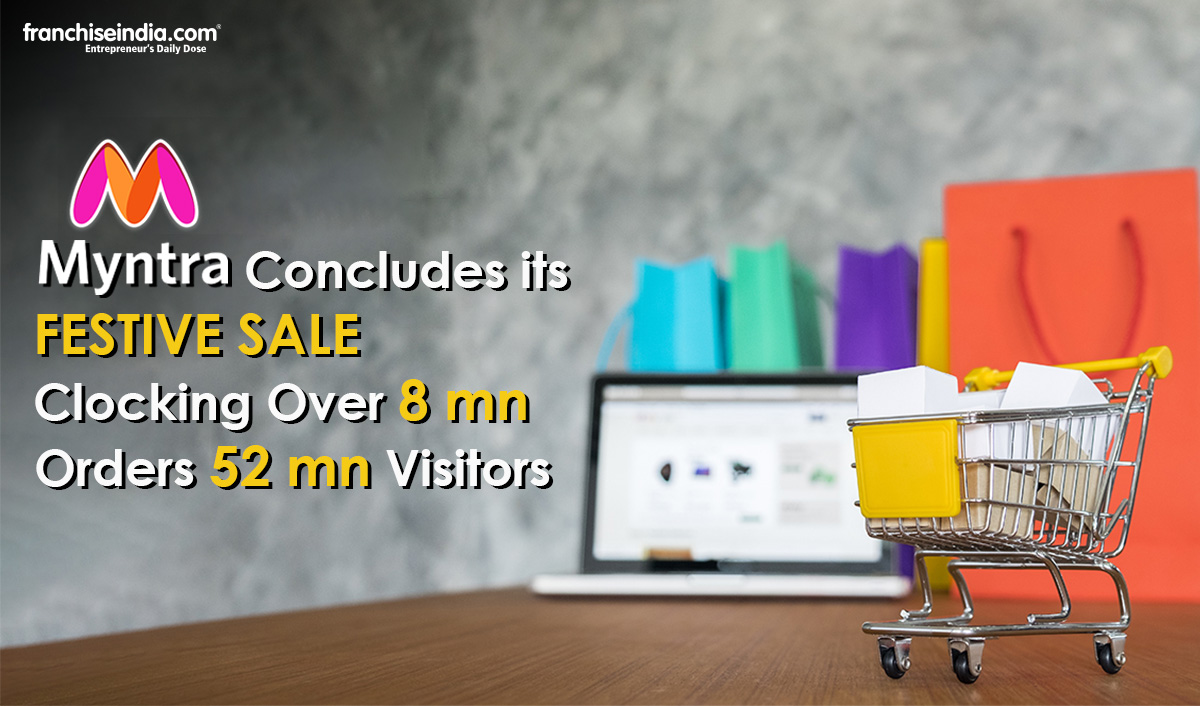Myntra Concludes its Festive Sale Clocking Over 8 mn orders, 52 mn Visitors