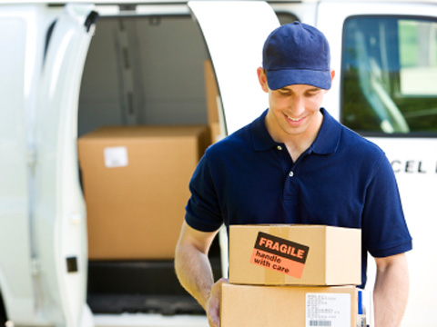 Luxury labels now delivered at doorstep
