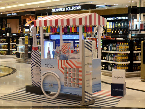 CHANDON launches the retail kiosk exclusively at DFS