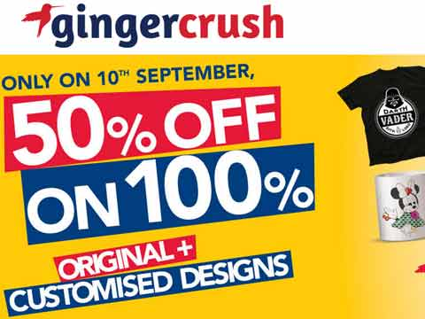 Gingercrush offers 50% sale