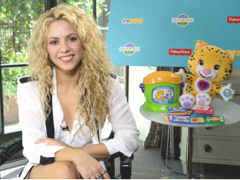 Shakira Launches App with Fisher-Price