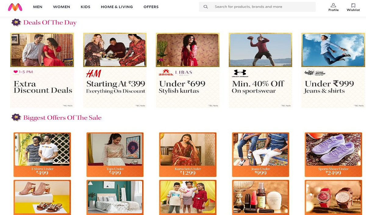 Myntra Registers Over 110% Growth In Traffic On Day 1 Of Its Flagship EORS