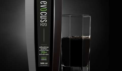 India's first black alkaline water EVOCUS H20 goes global