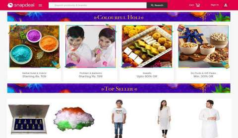 Snapdeal Launches Holi E-Store