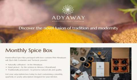 Sustainable Lifestyle Brand Adyaway Eyes to Dent the $13.7 bn Spice Market