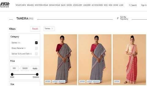 Taneira Unveils Handcrafted Handloom Sarees Collection on Nykaa Fashion