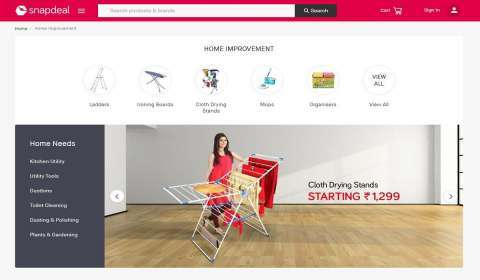 Snapdeal's Home Category Sees 70 pc Growth in Sales Amid Covid