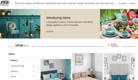 Nykaa Fashion Launches Virtual Home Decor Store
