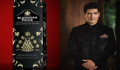 Blenders Pride's Limited-Edition Pack Launched in Association with Designer Manish Malhotra