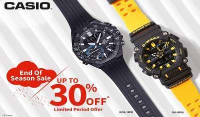 Casio Announces 'End of Season Sale'