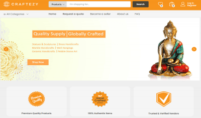 The Indian Handicrafts Trade Finds a New Online Address with 'Craftezy'