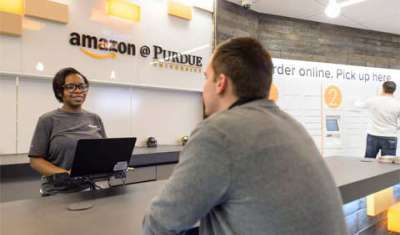Amazon launches first-ever brick-and-mortar store